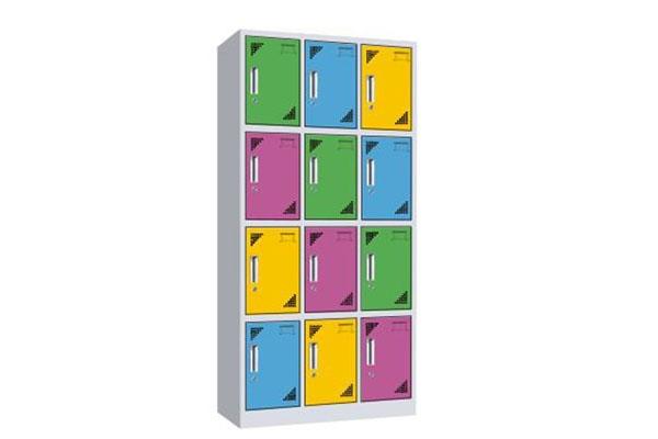 彩色十二门更衣柜